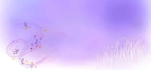紫色手绘花背景