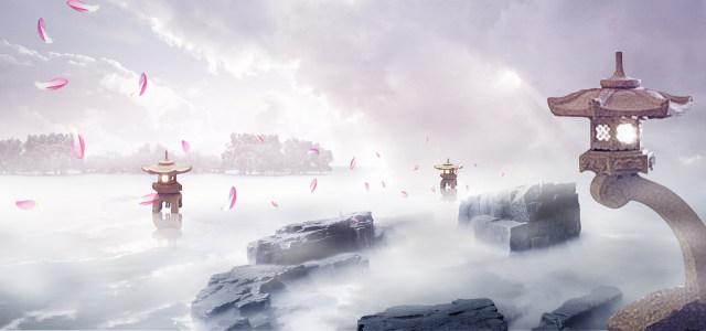 天空仙境背景banner高清背景图片素材下载