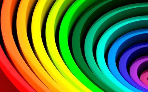 抽象彩色线光高清背景