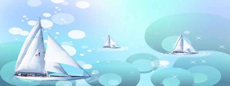 星光帆船背景