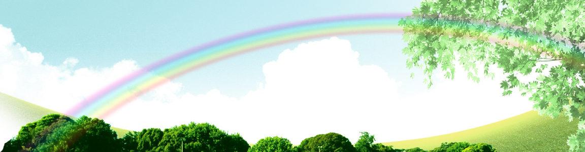 大自然彩虹背景