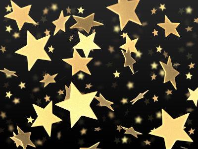 金色星星背景