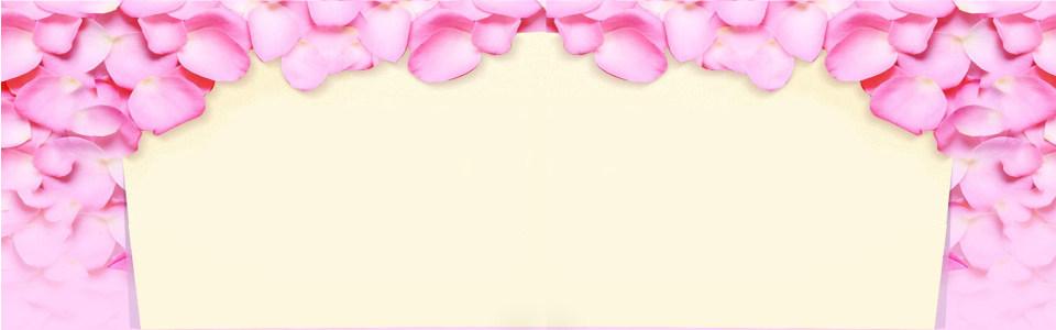 花瓣背景海报