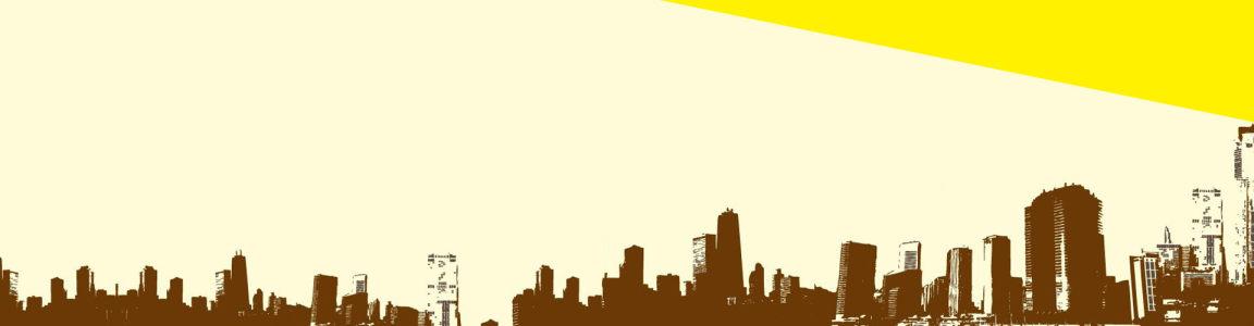 手绘大都市banner背景图