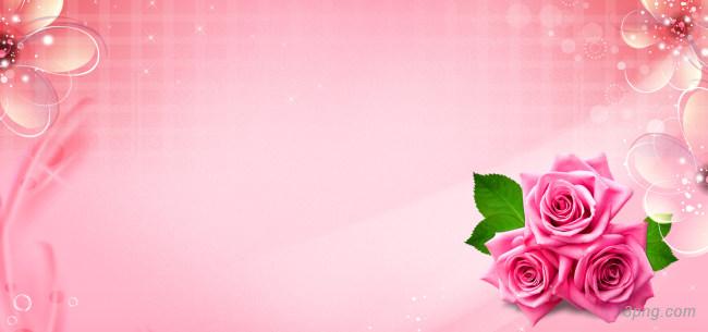 粉色花朵背景高清大图-粉色背景鲜花