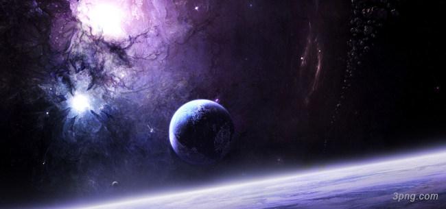 科幻太空陨石带背景高清大图-陨石背景科技/商务