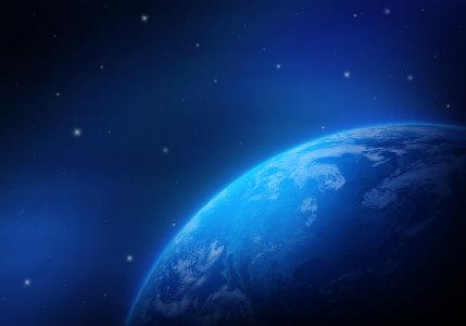 蓝色的地球背景高清背景图片素材下载
