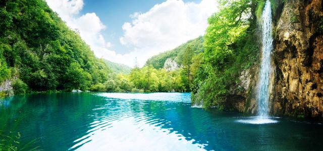 瀑布摄影背景高清背景图片素材下载