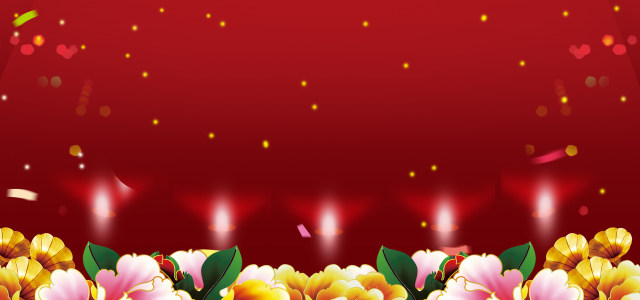红色 绚丽 中国风背景