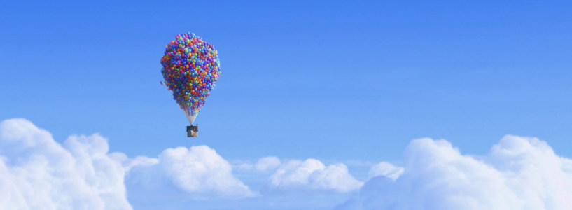蓝天热气球背景banner