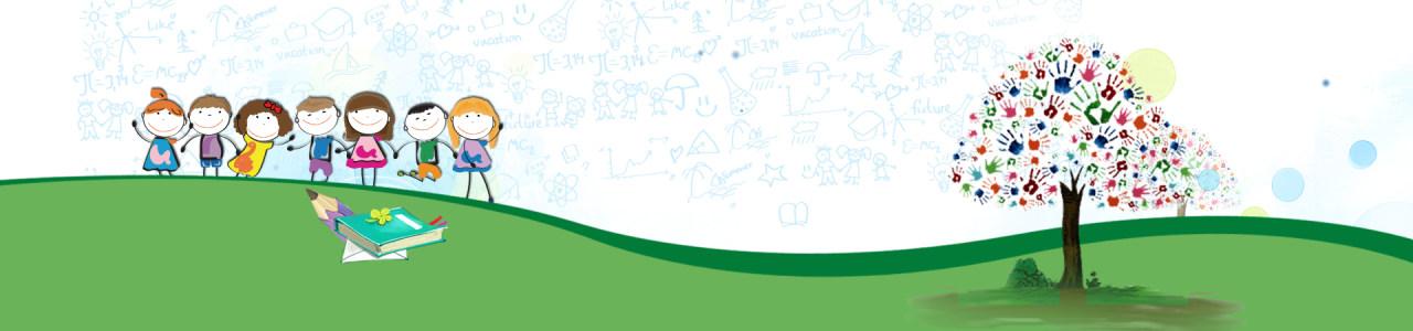 教师节卡通小人庆祝背景banner高清背景图片素材下载