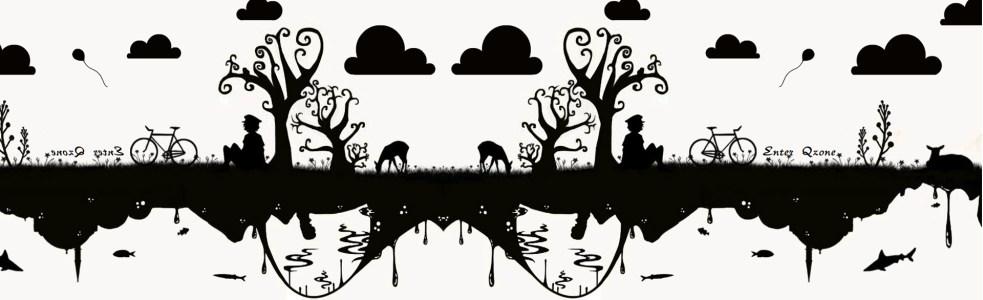 黑白卡通素描背景banner高清背景图片素材下载