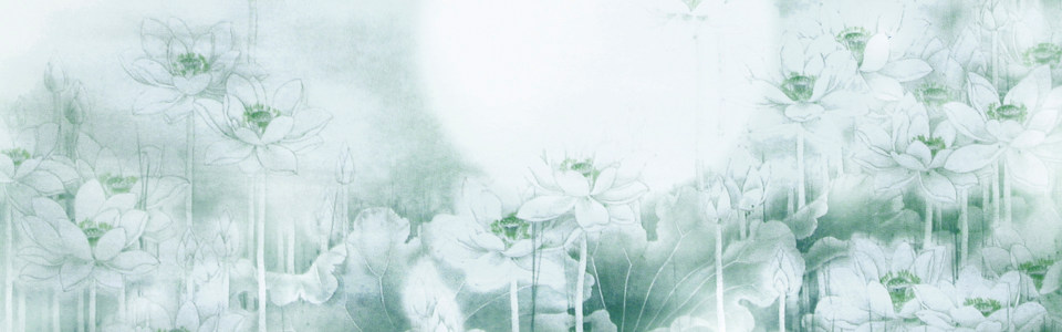 中国风水墨荷花海报背景