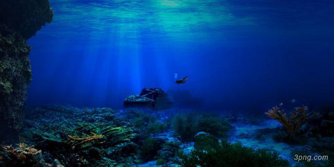 深海海底背景背景高清大图-深海背景底纹/肌理