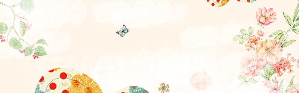 唯美蝶恋花淘宝海报背景高清背景图片素材下载