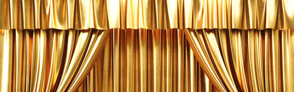金黄色窗帘幕布背景高清背景图片素材下载