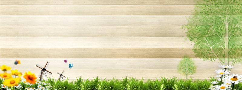 木板风景背景