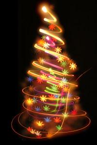 光线圣诞树