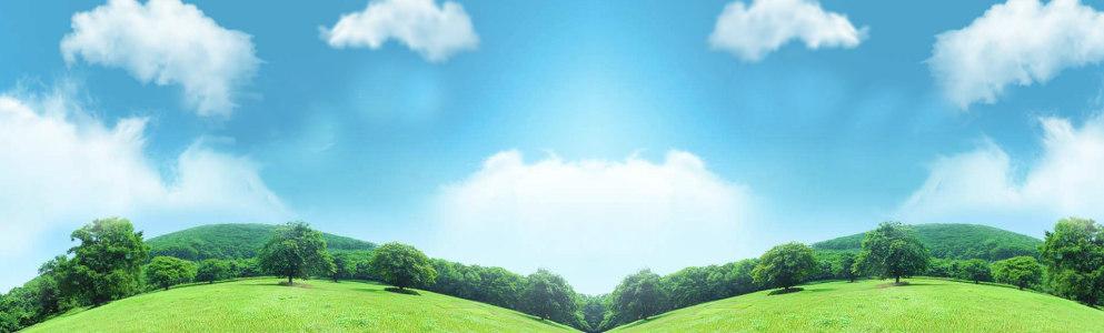 蓝天草坪牛奶背景banner高清背景图片素材下载