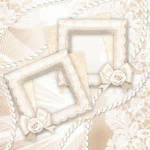 婚礼唯美相框背景
