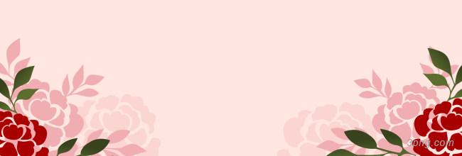 粉色花朵banner背景背景高清大图-粉色背景Banner海报