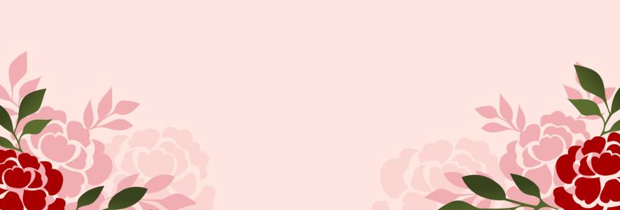 粉色花朵banner背景高清背景图片素材下载