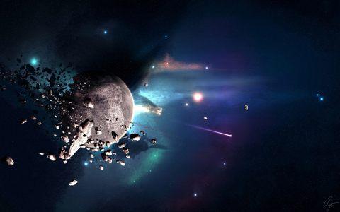 宇宙星空碎石背景
