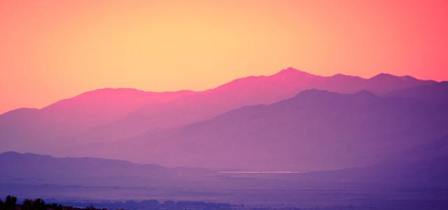 夕阳山峰背景高清背景图片素材下载