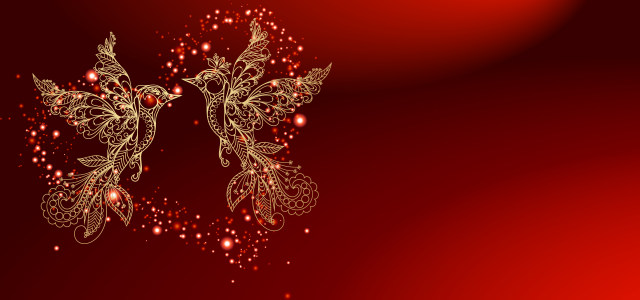 红色喜庆结婚背景