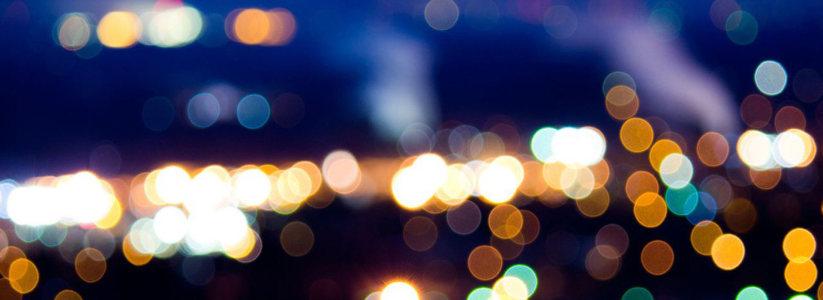 城市灯光背景