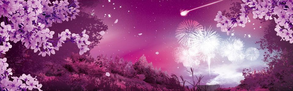 紫色 花瓣 唯美背景