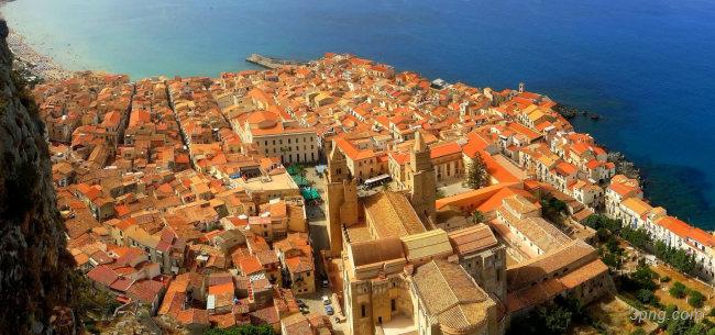 海边城市摄影背景高清大图-海边背景城市建筑