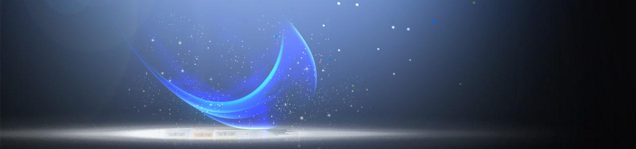蓝色星光背景 banner