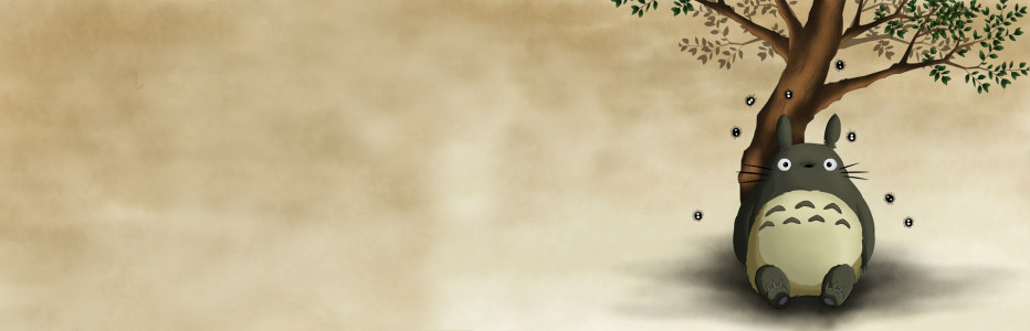动漫龙猫秋季背景banner高清背景图片素材下载