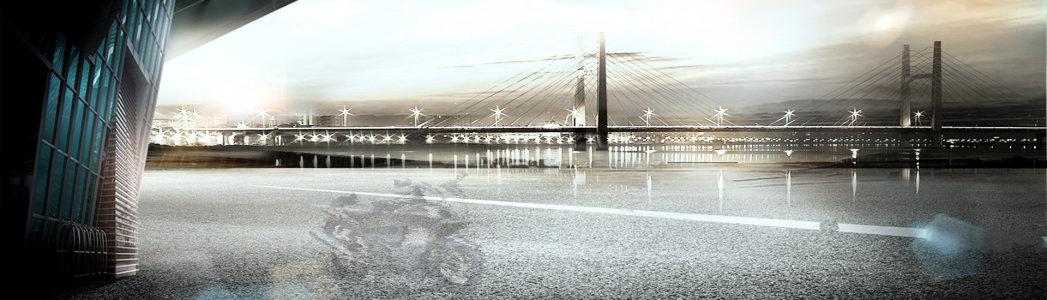 城市大桥夜景高清背景图片素材下载