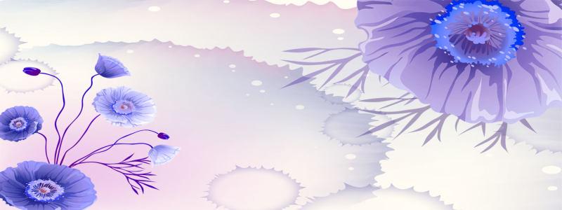 梦幻紫色花朵背景