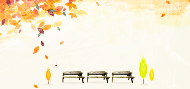 金色秋天落叶背景