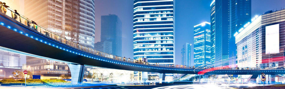 璀璨都市夜景海报背景