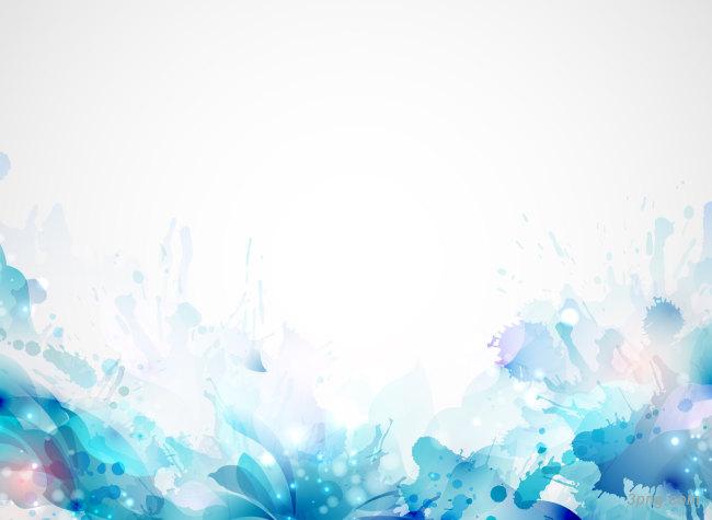 水墨梦幻花纹花朵背景背景高清大图-花纹背景底纹/肌理