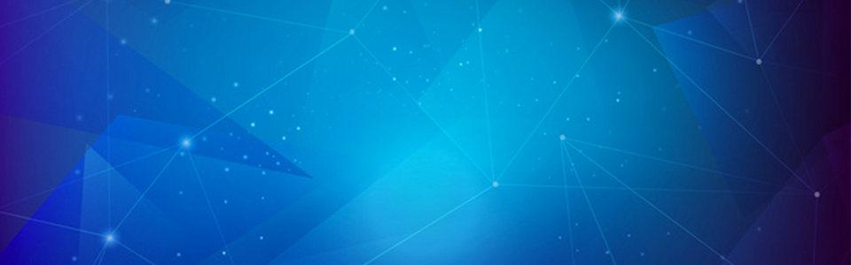 蓝色几何banner