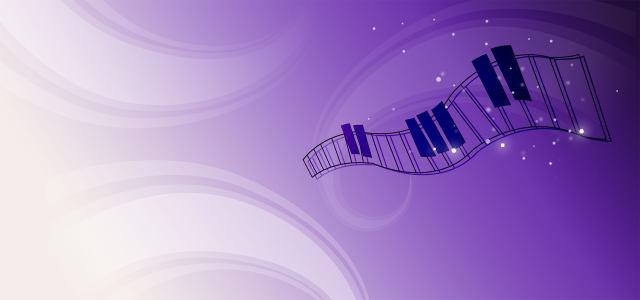 音乐主题和紫色背景