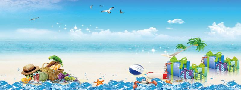唯美海滩背景