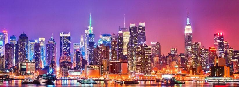 唯美城市夜景背景