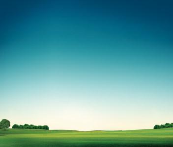 蓝天绿地高清背景图片素材下载