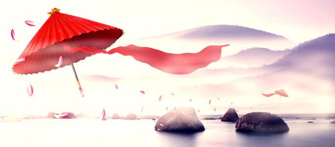 水墨中国风背景设计高清背景图片素材下载