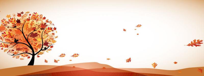 秋季风景海报