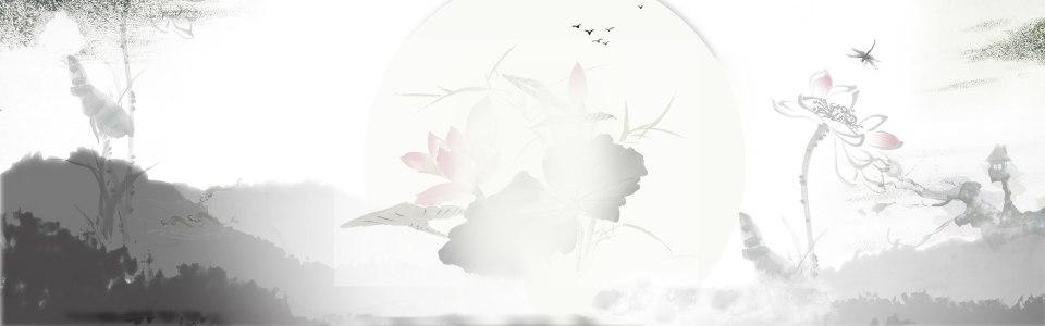 中国风水墨淘宝海报背景