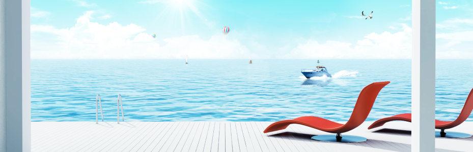 海边风景背景高清背景图片素材下载