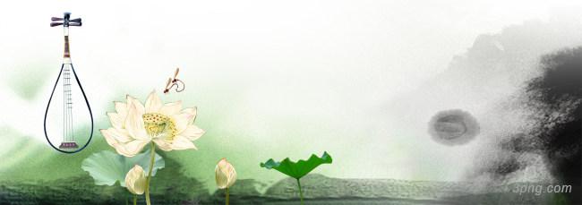 唯美淡雅中国风banner设计展板背景高清大图-展板背景淡雅/清新/唯美