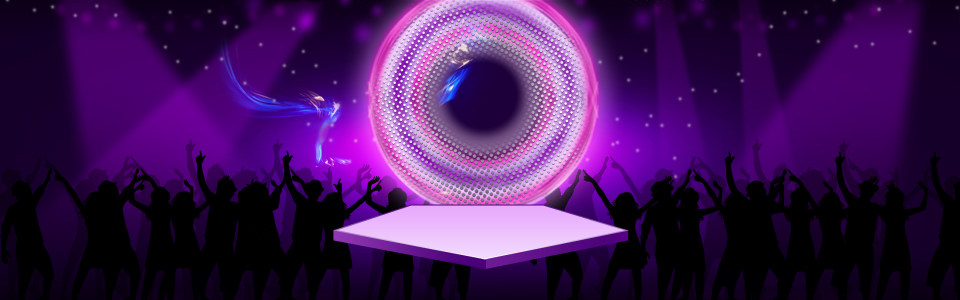 紫色梦幻淘宝背景